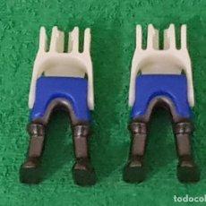 Playmobil: PLAYMOBIL LOTE 2 PIERNAS AZUL OSCURO ARMADURA ANTRACITA CABALLERO MEDIEVAL VIKINGOS ROMANOS. Lote 195142031