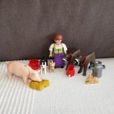 Playmobil: CAMPESINA CON ANIMALES DE PLAYMOBIL. Lote 195202170