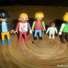 Playmobil: LOTE PLAYMOBIL - NIÑOS, NIÑAS Y BEBES +´GORRAS CASCO. Lote 195226617