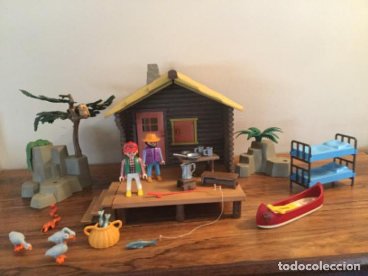 PLAYMOBIL REF. 3826,CABAÑA DEL LAGO CASA BOSQUE, CAMPAMENTO.( BELEN OESTE) (Juguetes - Playmobil)