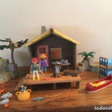 Playmobil: PLAYMOBIL REF. 3826,CABAÑA DEL LAGO CASA BOSQUE, CAMPAMENTO.( BELEN OESTE). Lote 195361051