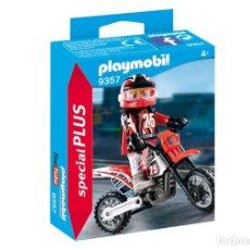 Playmobil: PLAYMOBIL 9357 MOTORISTA DE MOTOCROSS ¡NUEVO EN CAJA! ¡NEW!. Lote 195368206