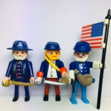 Playmobil: UNION OFFICIERS & FLAG BEARER PLAYMOBIL. Lote 195369151