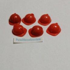 Playmobil: PLAYMOBIL LOTE DE 6 CASCOS DE OBRA ANTIGUOS. Lote 195431586