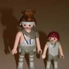 Playmobil: PLAYMOBIL *HOMBRE PREHISTÓRICO, TROGLODITA CON SU HIJO* DIORAMA PREHISTORIA ... INF. 4 FOTOS2 FOTOS. Lote 195510395