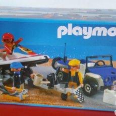 Playmobil: JEEP Y LANCHA FUERA BORDA REF.3198 PLAYMOBIL 1990.SIN ABRIR.. Lote 195531858