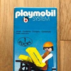 Playmobil: PLAYMOBIL 3369 NUEVO GRANJERO MEDIEVAL CARRETILLERO 1 KLICKY 1976 VINTAGE. Lote 199247503
