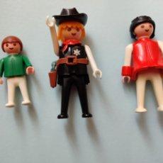 Playmobil: 3 FIGURAS DE FAMOBIL SHERIFF, NIÑO Y OTRA PRIMERA ÉPOCA NO PLAYMOBIL. Lote 199420575