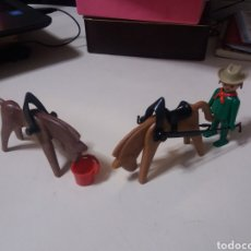 Playmobil: FAMOBIL PLAYMOBIL REF 3243 OESTE CARRETA CABALLOS VERDE GEOBRA.. Lote 199552032