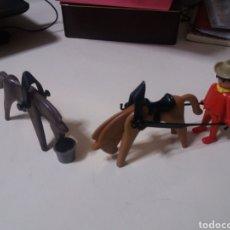 Playmobil: FAMOBIL PLAYMOBIL REF 3243 OESTE CARRETA CABALLOS ROJO GEOBRA.. Lote 199552115