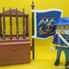 Playmobil: PLAYMOBIL GENERAL NORDISTA CON ARMERO REF 3034. Lote 199555381