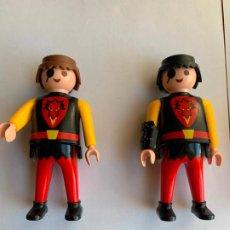 Playmobil: LOTE DUO FIGURA CABALLERO DRAGÓN PARCHE CASTILLO . Lote 200076692