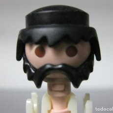 Playmobil: PLAYMOBIL CABEZA CON PELO Y BARBA NEGRA CON BIGOTE VICTORIANO -LAS 3 COSAS-. Lote 294152433