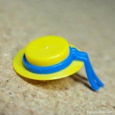 Playmobil: PLAYMOBIL SOMBRERO AMARILLO CON CINTO AZUL, MUJER DAMA OESTE WESTERN VICTORIANO. Lote 218259693