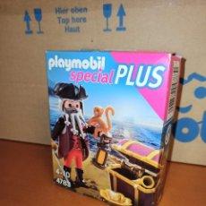 Playmobil: PLAYMOBIL SPECIAL PLUS 4783 PIRATA CON MONO Y TESORO. Lote 201709191