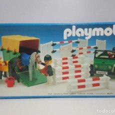 Playmobil: JEEP REMOLQUE PLAYMOBIL 3140 OBSTACULO EQUITACION HIPICO CABALLO COMPETICIONSE INCLUYE TODO LO QUE S. Lote 202575167