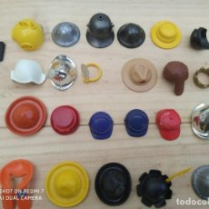 Playmobil: LOTE SOMBREROS, CASCOS, VARIOS, JUGUETES PLAYMOBIL. Lote 203314165