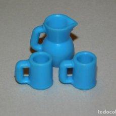 Playmobil: PLAYMOBIL *JARRA CON 2 TAZAS* CASA VICTORIANA, CASA MODERNA, COCINA, INF. 2 FOTOS. Lote 203944187