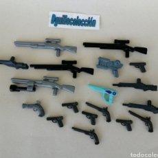 Playmobil: PLAYMOBIL LOTE DE 18 ARMAS DE FUEGO PIRATA CORSARIO POLICÍA ALIEN FRANCOTIRADOR. Lote 204990487
