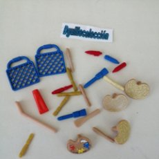 Playmobil: PLAYMOBIL LOTE ACCESORIOS PINTOR BROCHA PINCEL LAPICEROS BOLÍGRAFO. Lote 204997063
