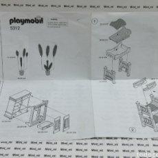 Playmobil: PLAYMOBIL 5312 MANUAL INSTRUCCIONES MONTAJE HABITACIÓN CASA VICTORIANA SERIE ROSA ARMARIO CAM LITERA. Lote 205541208