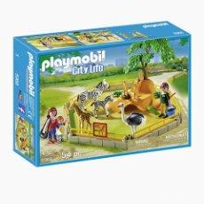 Playmobil: LOTE SET PLAYSET ZOO CITY LIFE RECINTO DE ANIMALES SALVAJES,PLAYMOBIL,NUEVO, A ESTRENAR. Lote 206504927
