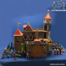 Playmobil: PLAYMOBIL - CASTILLO MEDIEVAL REF. 3666 + CABALLOS + HOMBRES Y MUJERES MEDIEVALES + ARMAS + EXTRAS. Lote 208487852