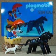 Playmobil: PLAYMOBIL 3749 CALESA AMARILLA UNICA DE ANTEX, OESTE WESTERN CARRO CARRETA KLICKY PRIMERA ÉPOCA. Lote 210982855