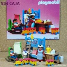 Playmobil: PLAYMOBIL 5311 HABITACIÓN INFANTIL COMPLETA, NIÑOS NIÑERA DORMITORIO VICTORIANO SERIE ROSA 5300. Lote 211444016