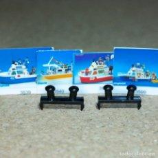 Playmobil: PLAYMOBIL DOS AMARRES ENGANCHES 3539 3540 3999 3599 PARTES PIEZAS BARCO CATAMARAN PATRULLERA. Lote 211520657