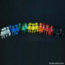 Playmobil: PLAYMOBIL 19 FIGURAS DE ANTEX ARGENTINA DE COLORES. Lote 211842135