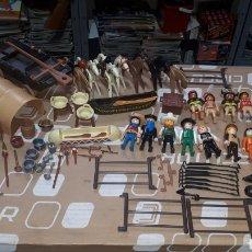 Playmobil: GRAN LOTE VAQUEROS E INDIOS Y ACCESORIOS PLAYMOBIL. Lote 213272781