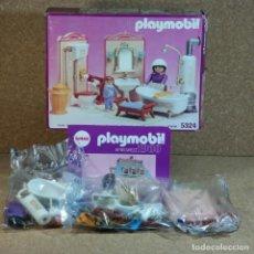 Playmobil: PLAYMOBIL 5324 ( 5324V1 ) BAÑO VICTORIANO ANTEX COMPLETO CON CAJA , SERIE ROSA 5300. Lote 255667265