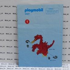Playmobil: PLAYMOBIL 3327 INSTRUCCIONES MONTAJE MANUAL DRAGÓN ROJO CASTILLO MEDIEVAL. Lote 213920002