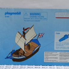Playmobil: PLAYMOBIL 5140 INSTRUCCIONES MONTAJE MANUAL BARCO INGLESES. Lote 213920325