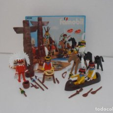 Playmobil: POBLADO INDIO, FAMOBIL, REF 3483, CAJA ORIGINAL, COMPLETO. Lote 215667446