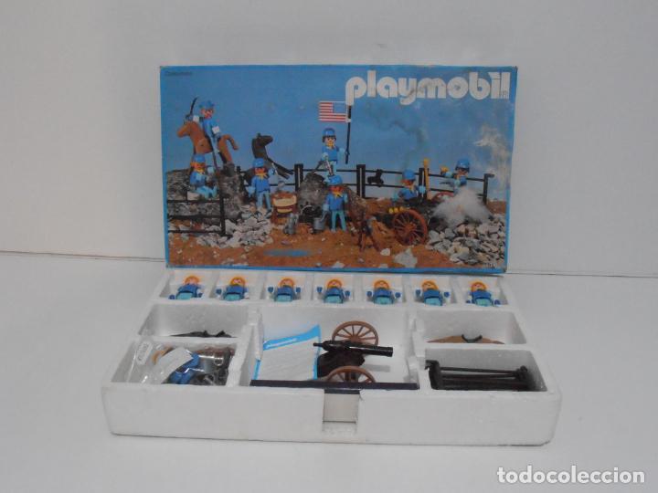 Playmobil: SEPTIMO DE CABALLERIA, FAMOBIL, REF 3408, CAJA ORIGINAL, CASI COMPLETO - Foto 2 - 215668922