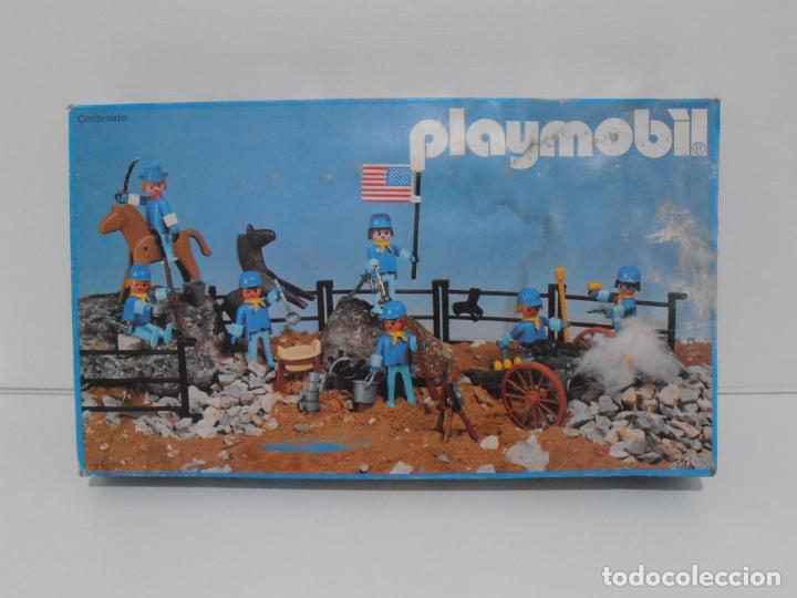 Playmobil: SEPTIMO DE CABALLERIA, FAMOBIL, REF 3408, CAJA ORIGINAL, CASI COMPLETO - Foto 3 - 215668922