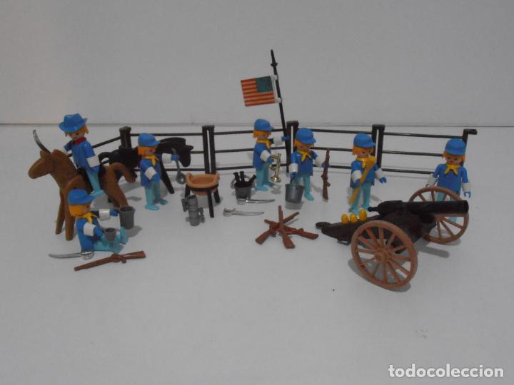 Playmobil: SEPTIMO DE CABALLERIA, FAMOBIL, REF 3408, CAJA ORIGINAL, CASI COMPLETO - Foto 9 - 215668922