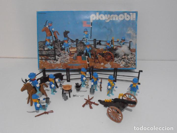 SEPTIMO DE CABALLERIA, FAMOBIL, REF 3408, CAJA ORIGINAL, CASI COMPLETO (Juguetes - Playmobil)