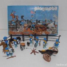 Playmobil: SEPTIMO DE CABALLERIA, FAMOBIL, REF 3408, CAJA ORIGINAL, CASI COMPLETO. Lote 215668922
