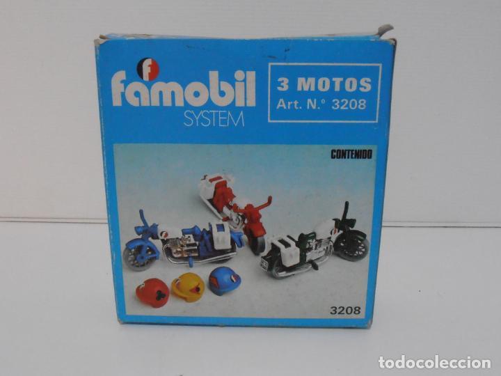 Playmobil: TRES MOTOS, FAMOBIL, REF 3208, CAJA ORIGINAL, COMPLETO - Foto 2 - 215710922