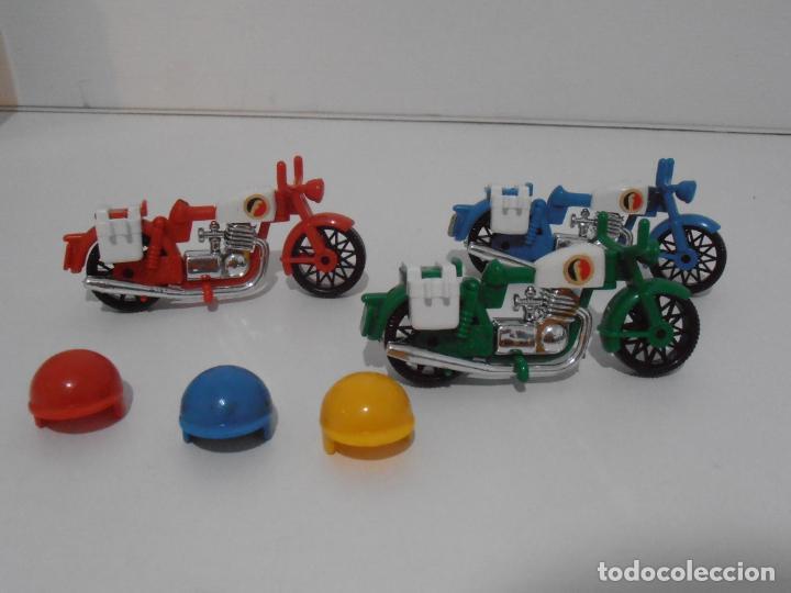 Playmobil: TRES MOTOS, FAMOBIL, REF 3208, CAJA ORIGINAL, COMPLETO - Foto 3 - 215710922