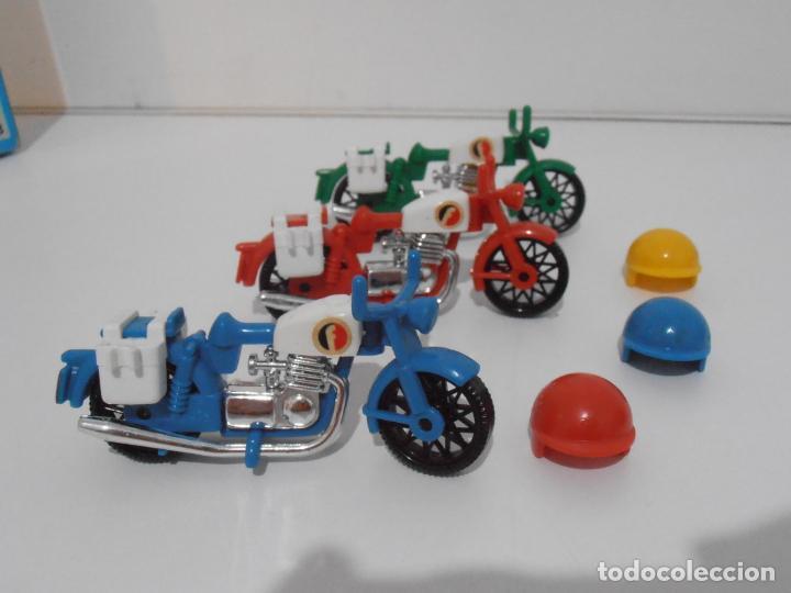 Playmobil: TRES MOTOS, FAMOBIL, REF 3208, CAJA ORIGINAL, COMPLETO - Foto 4 - 215710922