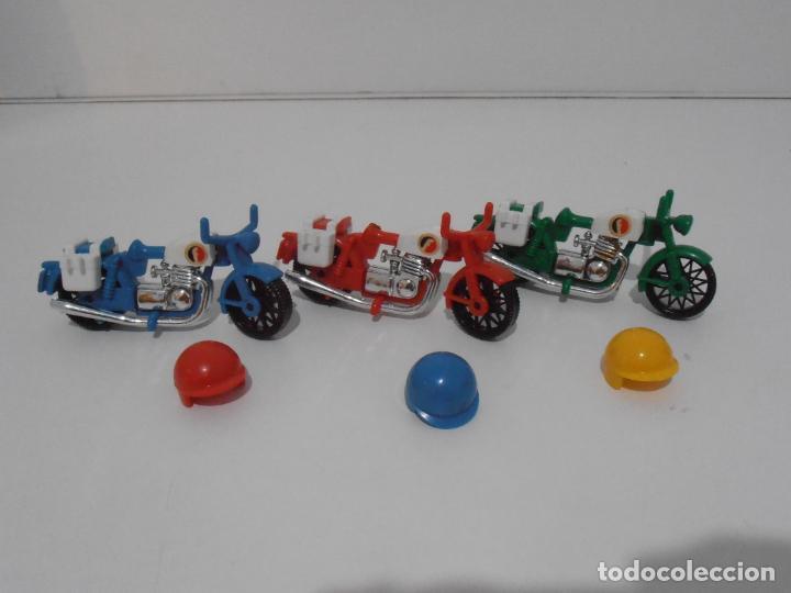 Playmobil: TRES MOTOS, FAMOBIL, REF 3208, CAJA ORIGINAL, COMPLETO - Foto 5 - 215710922