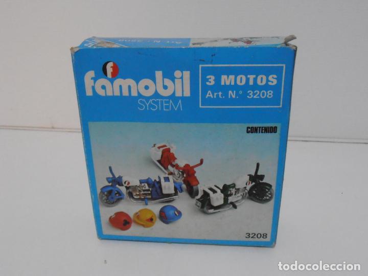 Playmobil: TRES MOTOS, FAMOBIL, REF 3208, CAJA ORIGINAL, COMPLETO - Foto 10 - 215710922