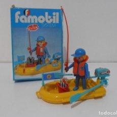 Playmobil: PESCADOR, FAMOBIL, REF 3574, CAJA ORIGINAL, COMPLETO CON ALGUNAS PEGATINAS. Lote 215711611