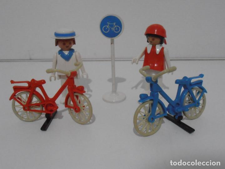 Playmobil: PAREJA DE CICLISTAS, FAMOBIL, REF 3573, CAJA ORIGINAL, COMPLETO - Foto 3 - 215745797