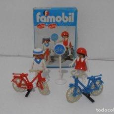 Playmobil: PAREJA DE CICLISTAS, FAMOBIL, REF 3573, CAJA ORIGINAL, COMPLETO. Lote 215745797