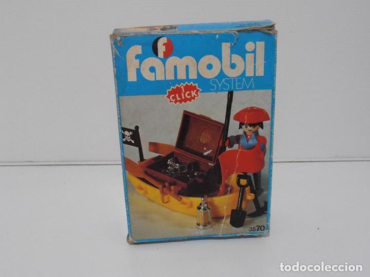 Playmobil: PIRATA CON BARCA, FAMOBIL, REF 3570, CAJA ORIGINAL, COMPLETO - Foto 6 - 215746761